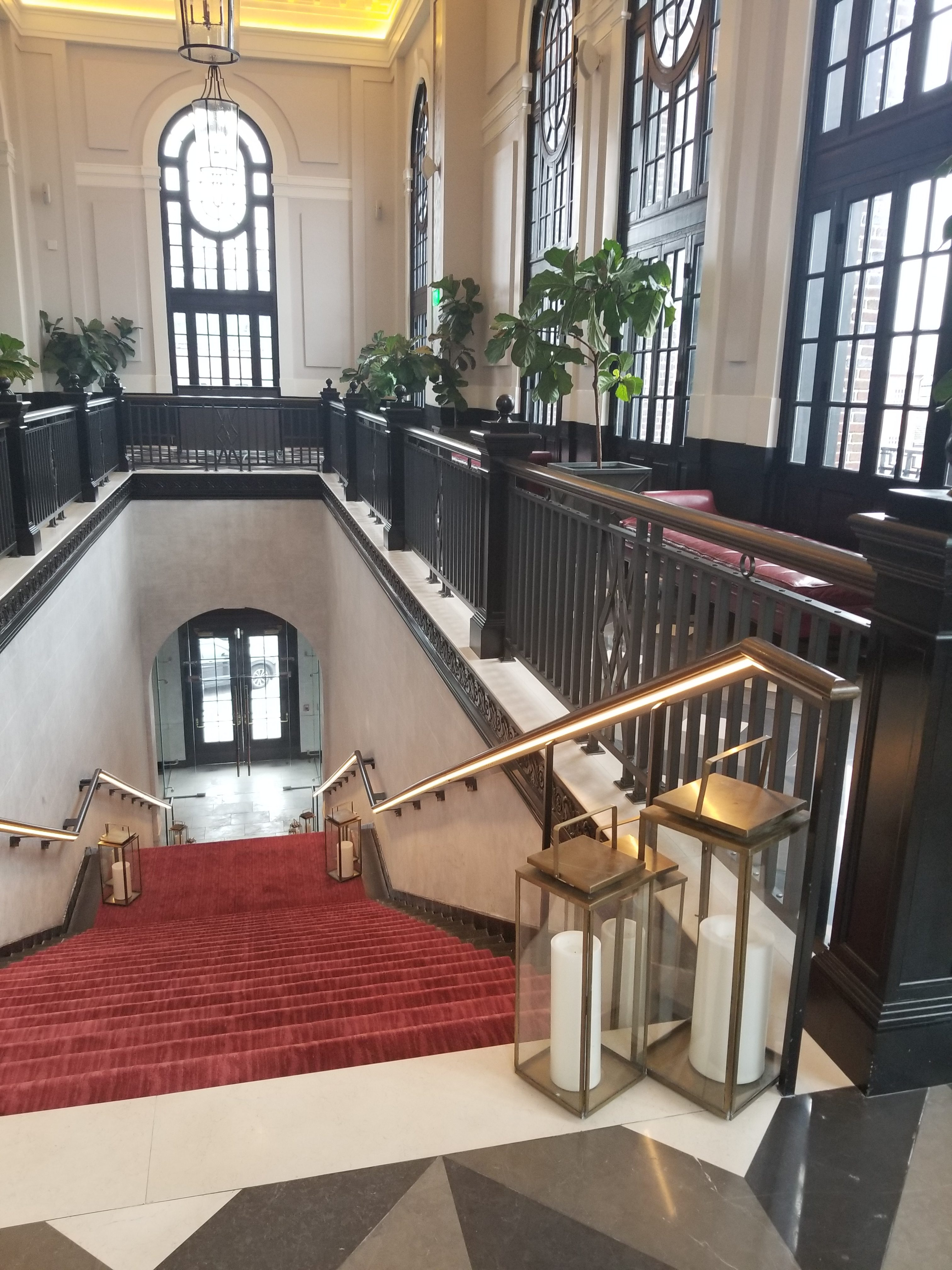 Sagamore Pendry Hotel Wedding Grand staircase